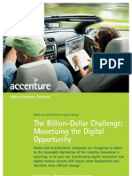 Accenture Billion Dollar Challenge Monetizing the Digital Opportunity