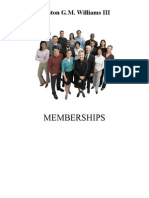 Preston Williams Memberships