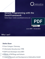 Secure Programming with the Zend Framework