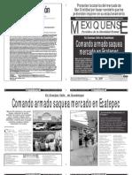 Versión impresa del periódico El mexiquense  5 noviembre 2013