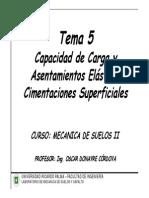 Tema 5 Capacidad de Carga y Asentamientos de Suelos