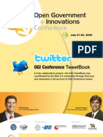 "Open Government and Innovations Conference ""TweetBook"""