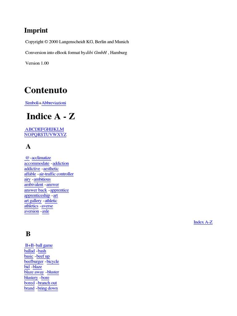 Dizionario Inglese-Italiano Frasi Idiomatiche.pdf | Business