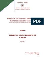 TEMA 6. ELEMENTOS SOSTENIMIENTO TÚNELES
