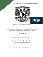 DISEÑO GEOTECNICO DEL TUNEL DE DESFOGUE DEL PROYECTO HIDROLÉCTRICO (P.H.)  LA YESCA