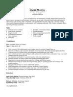 resume july 2013
