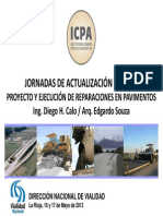 Proyecto y Ejecucion de Reparaciones en Pavimentos
