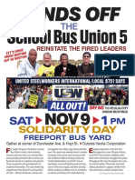 Hands Off the School Bus Union 5!