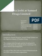 Dr Amita Joshi at Samuel Drugs Ltd.