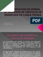 Implementacion de Sistema de Seguridad en Vehiculos De
