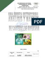 ANÁLISIS Y MANEJO DE CARTERAS DE INVERSIONES