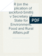 R (on the application of Bickford-Smith) v Secretary of State for Environment, Food and Rural Affairs [2013]