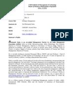 Course Outline_Strategic Managemnet_Prof Dutta