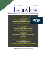 JURNAL KOMUNIKASI 'MEDIATOR'.pdf