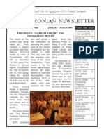Quezonian Newsletter March 2009