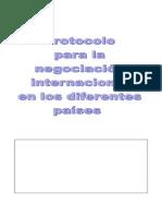Protocolo Negociacion Internacional
