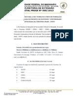 Edital Nº 0502013 Inscrições UNITI