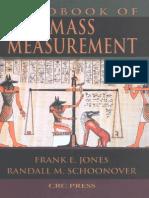 # Handbook of Mass Measurement