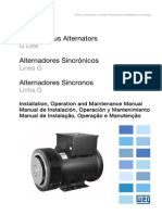 WEG Alternadores Sincronicos Linea g 10680382 Manual Espanol