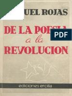 Manuel Rojas de La Poesia a La Revolucion