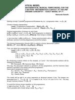 Musical Mathematical Model