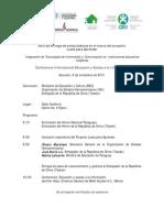 Agenda Miercoles 05 de Noviembre