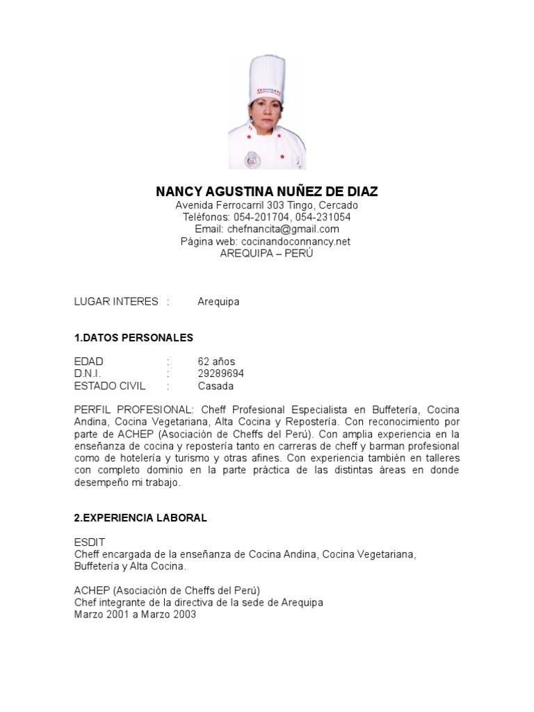 Perfecto Currículum Del Chef Bosquejo - Ejemplo De Colección De ...