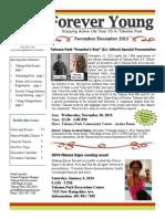 Forever Young Newsletter #6 - November/December 2013