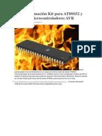 ISP Programación Kit para AT89S52 y series de microcontroladores AVR