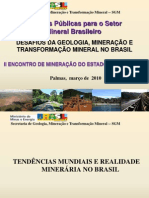 24-03 1900h - Palestra Carlos Nogueira - Políticas Públicas para o Setor Mineral Brasileiro