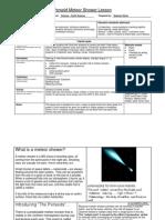 ITF-Perseid Meteor Shower Lesson Plan