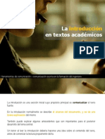 La Introduccion en Textos Academicos