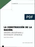 Construcción de la nacióndebates disciplinares y dominación simbólica