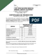 CERTIFICACIÓN PROMOCION. ACTUAL ( MARGARITA)