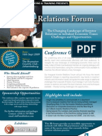 Investor Relations Forum