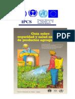 Guía sobre seguridad y salud en el uso de productos agroquímicos