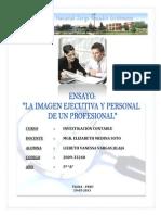 Ensayo - La Imagen Ejecutiva y Personal de Un Profesional