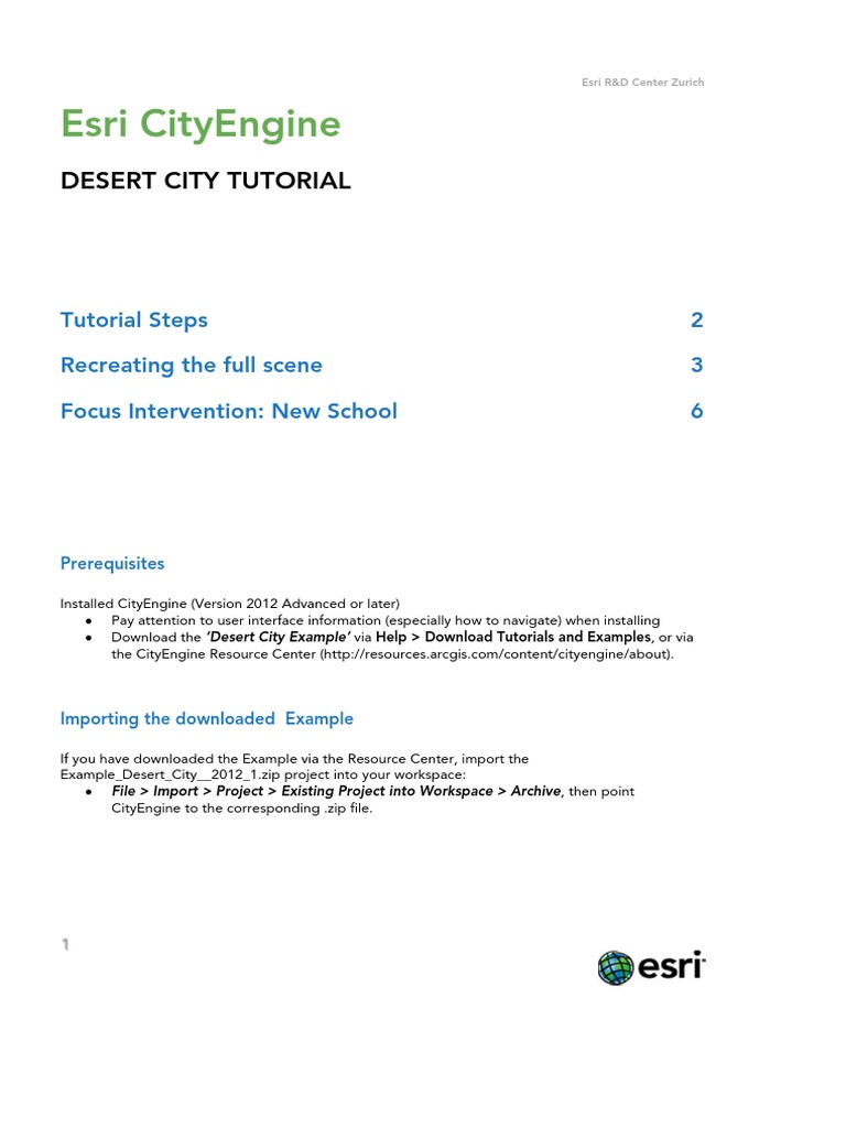Desert_City_Tutorial pdf | Texture Mapping (105 views)