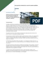 Fôrmas de alumínio para paredes estruturais de concreto armado moldadas no local