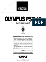 Olympus PSD-10 ESU - User Manual