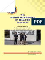 The Disenfranchisement of Bona Fide Sabahans