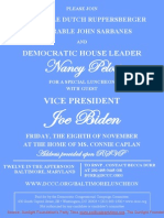 Special Luncheon for Democratic Congressional Campaign Committee