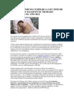 Sanciones Por No Cumplir La Ley 29783 de Seguridad y Salud en El Trabajo