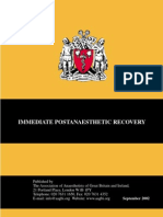 Immediate Post Anesthetic Recovery