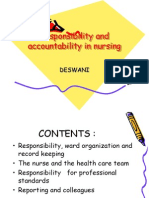 Responsibility and Accountability in Nursing