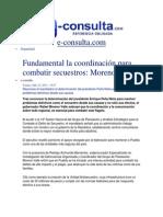 12-07-2013 e-consulta.com  - Fundamental la coordinación para combatir secuestros, Moreno Valle
