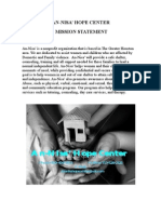 An-Nisa'  Hope Center Mission Statement, Usa www.annisacenter.tk