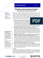 Winning outsourcing strategies