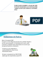 Presentación Contabilidad pasivos segun NIIF-PYMES