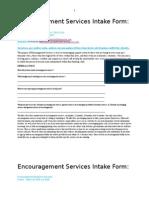 encourage intake forms